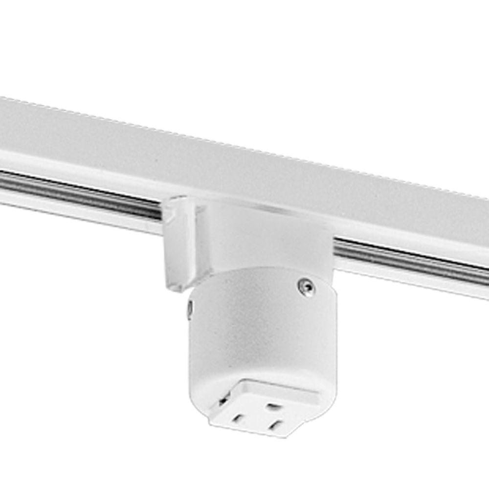 Progress Lighting White Track Accessory Outlet Adapter