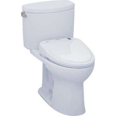 Drake II Connect 2-Piece 1.28 GPF Elongated Toilet with Washlet S300e Bidet and CeFiONtect in Cotton White