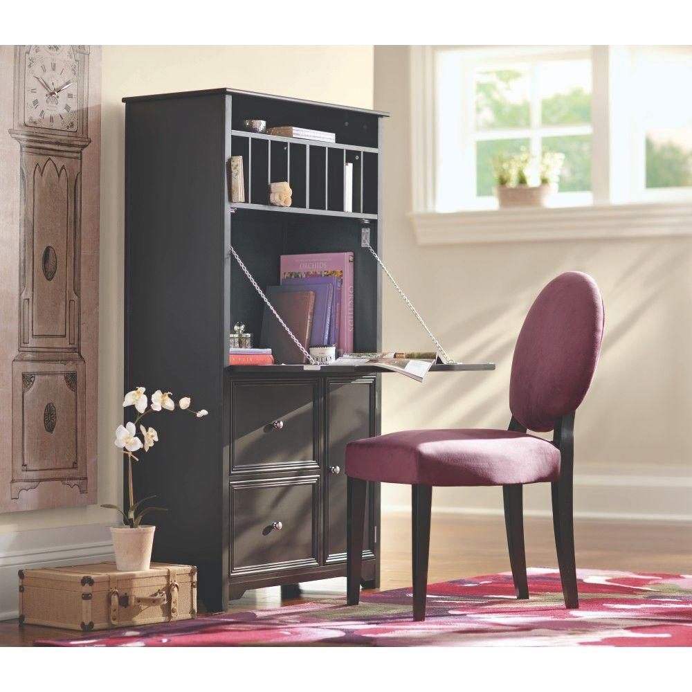 Home Decorators Collection Oxford Black Secretary Desk
