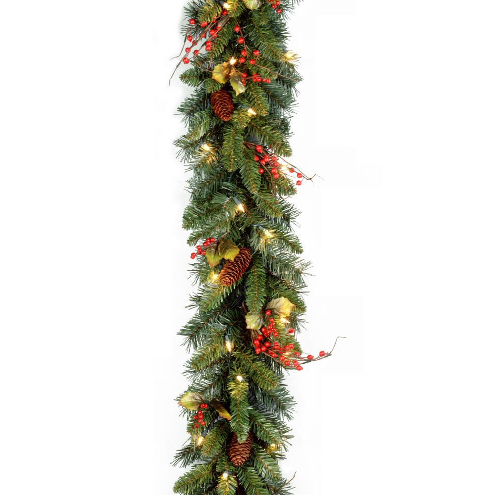 Classical Collection 9 ft. Garland with Clear Lights-CC1 ...