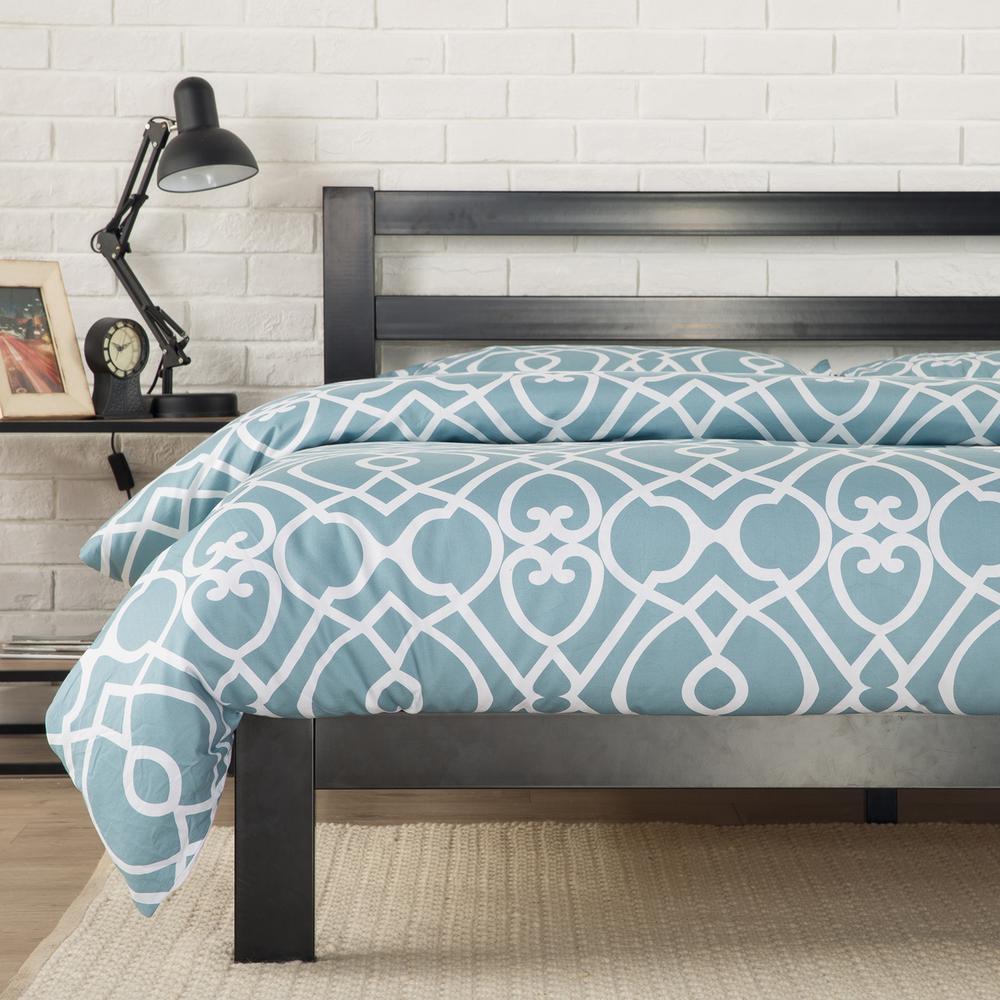 Arnav Modern Studio 10 Inch Platform 2000H Metal Bed Frame, Twin