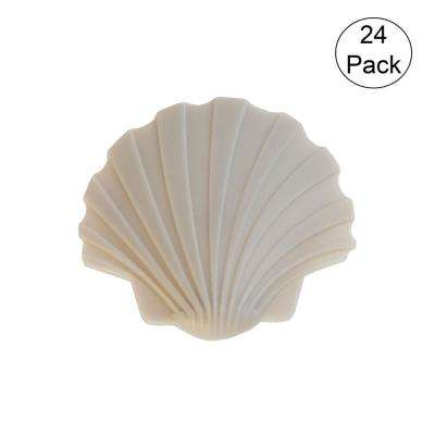 Plastic Swimming Pool Deck Safety Cover Brass Plug Seashell (24-Pack)