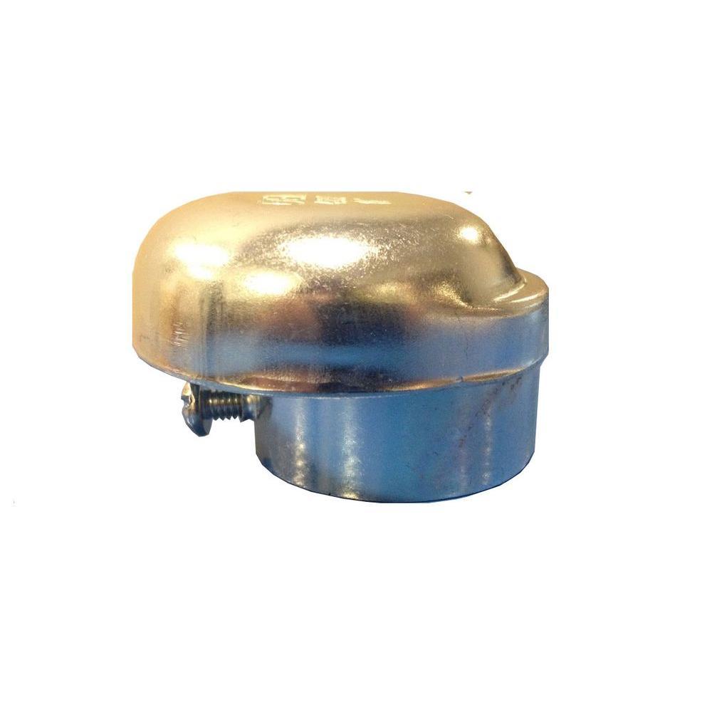 1-1/4 in. Zinc Plated Steel Slip-On Vent Cap