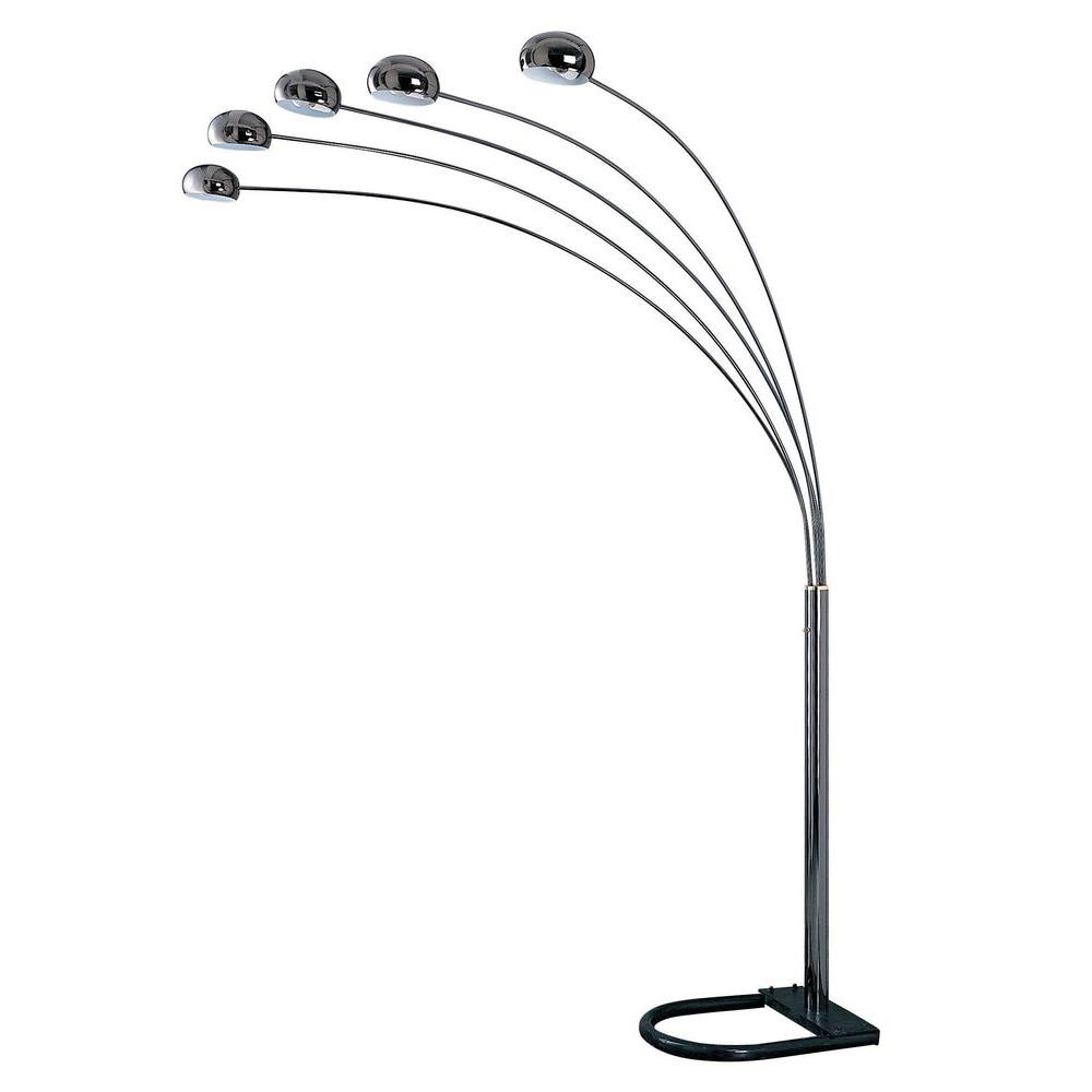 Ok Lighting 88 In Black 5 Arch Floor Lamp Ok 9628k The