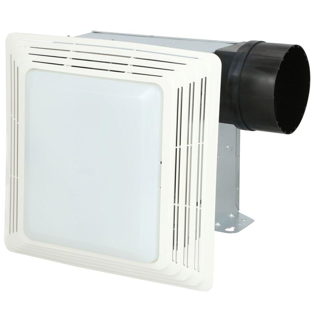 50 Cfm Ceiling Exhaust Bath Fan With Light 678 The Home Depot