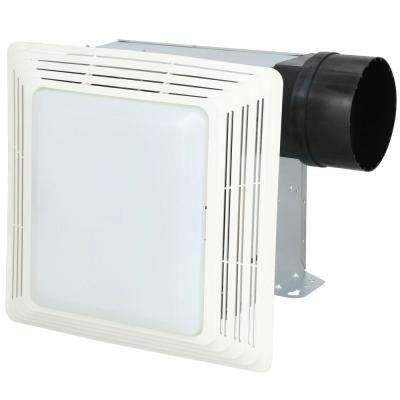 50 CFM Ceiling Bathroom Exhaust Fan with Light