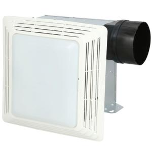 broan-nutone 50 cfm ceiling bathroom exhaust fan with light-678 - the home  depot  the home depot