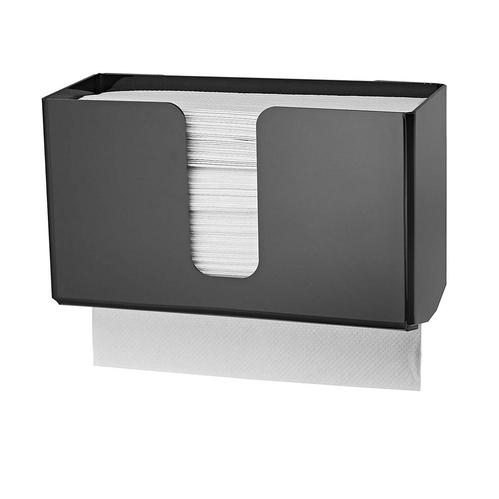 Acrylic Black Wall-Mounted Paper Towel Dispenser