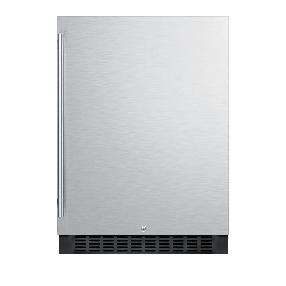 Summit 4.6 cu. ft. Mini Refrigerator in Stainless Steel, ...