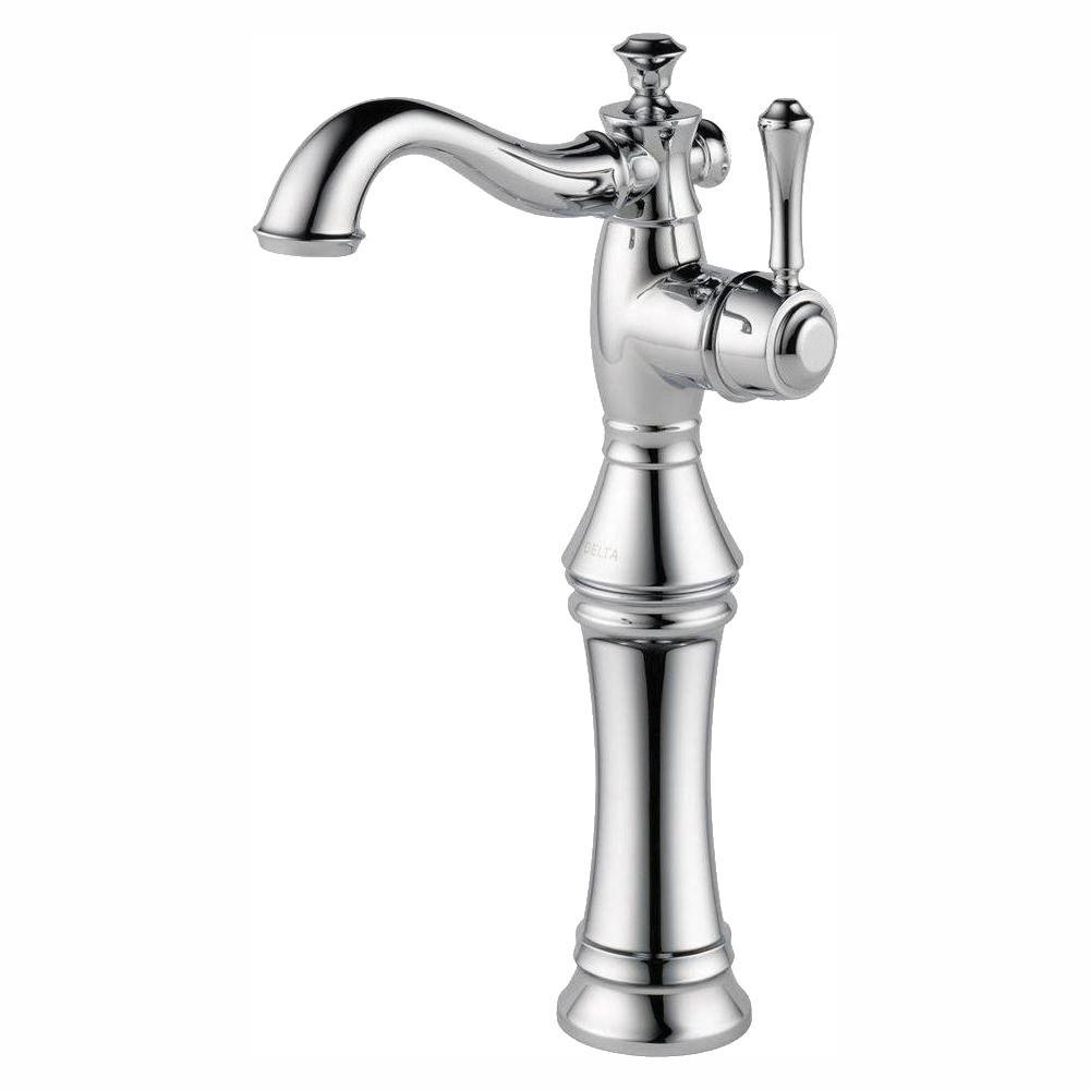 Cassidy Single Hole Single-Handle Vessel Bathroom Faucet in Chrome