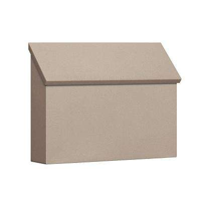 4600 Series Beige Standard Horizontal Traditional Mailbox