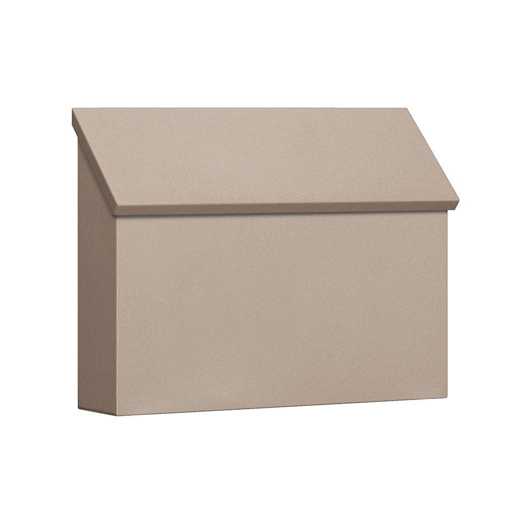 4600 Series Beige Standard Horizontal Traditional Mailbox