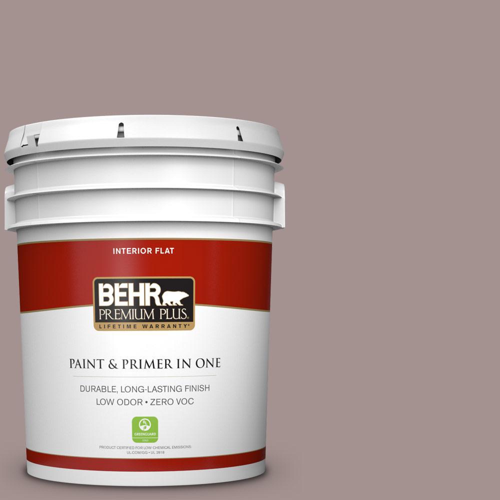 BEHR Premium Plus 5-gal. #740B-4 Suede Leather Zero VOC Flat Interior Paint