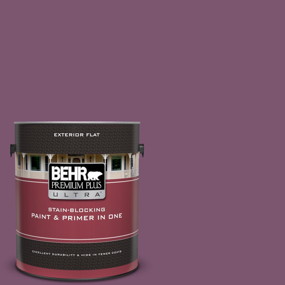 BEHR Premium Plus Ultra 1 gal  #M110-7 Euphoric Magenta Flat Exterior Paint  and Primer in One