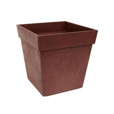 Symphony 13 in. W x 13 in. H Terra Cotta Rubber Self-Watering Planter