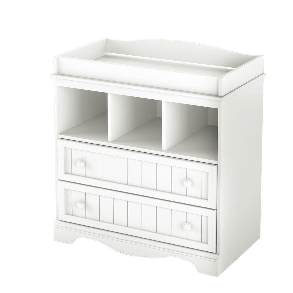 Savannah 2-Drawer Pure White Changing Table
