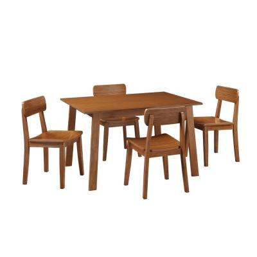 Zebra Hagen 5-Piece Rich Walnut Dining Set