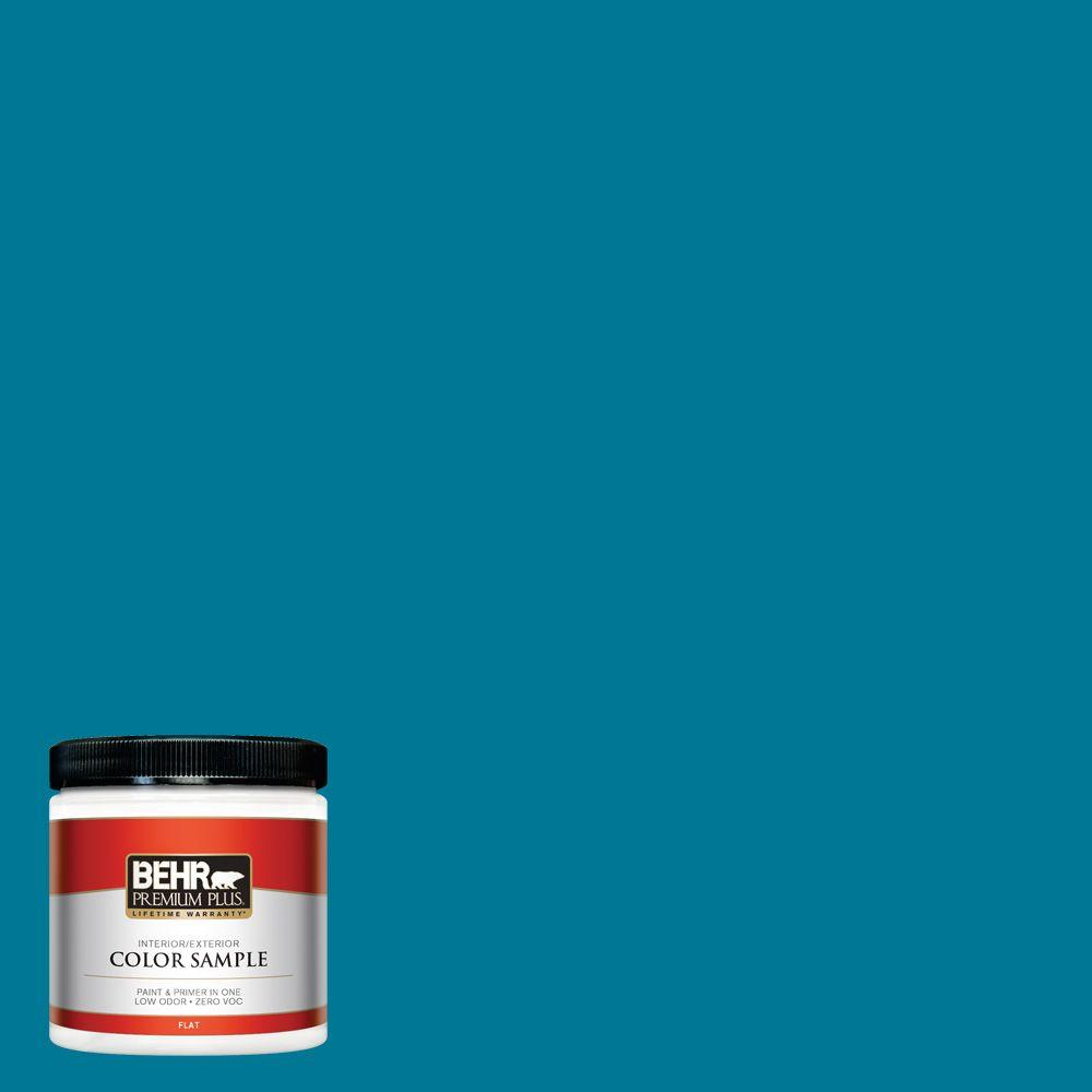 BEHR Premium Plus 8 oz. #520B-7 Havasu Interior/Exterior Paint Sample
