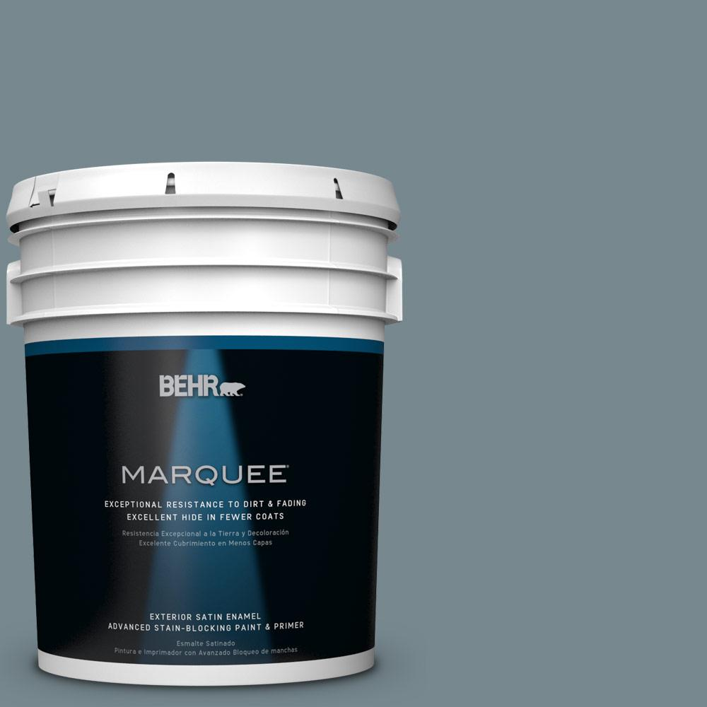 5-gal. #N470-5 Norwegian Blue Satin Enamel Exterior Paint