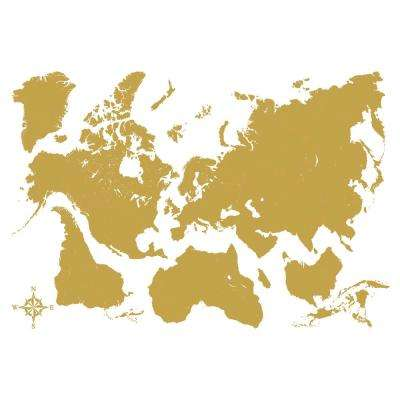 Gold Map Metallic Wall Decal