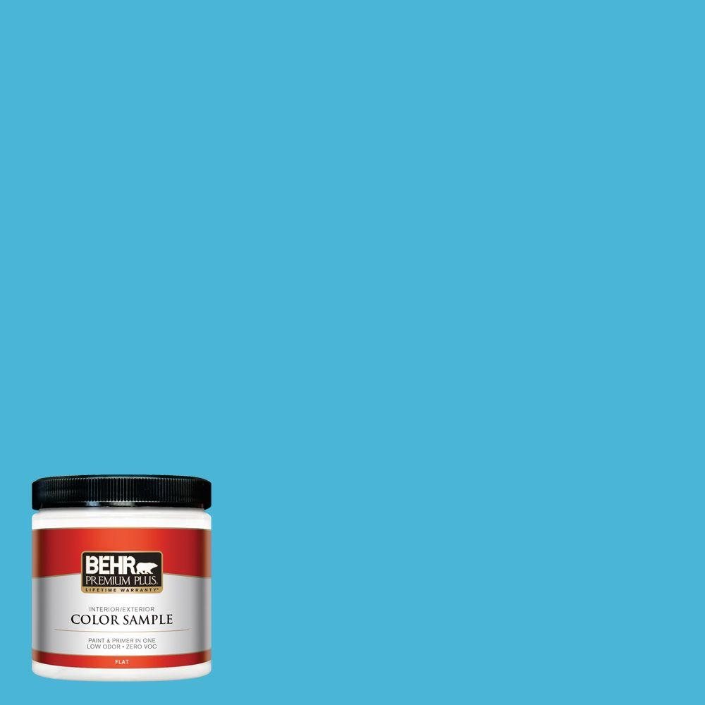 P490 4 Aztec Sky Flat Interior Exterior Paint And Primer In One Sample
