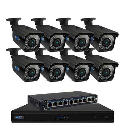 8-Channel 5MP 2TB NVR Surveillance Security System with 8 PoE Wired IP Bullet Cameras 150 ft. Night Vision