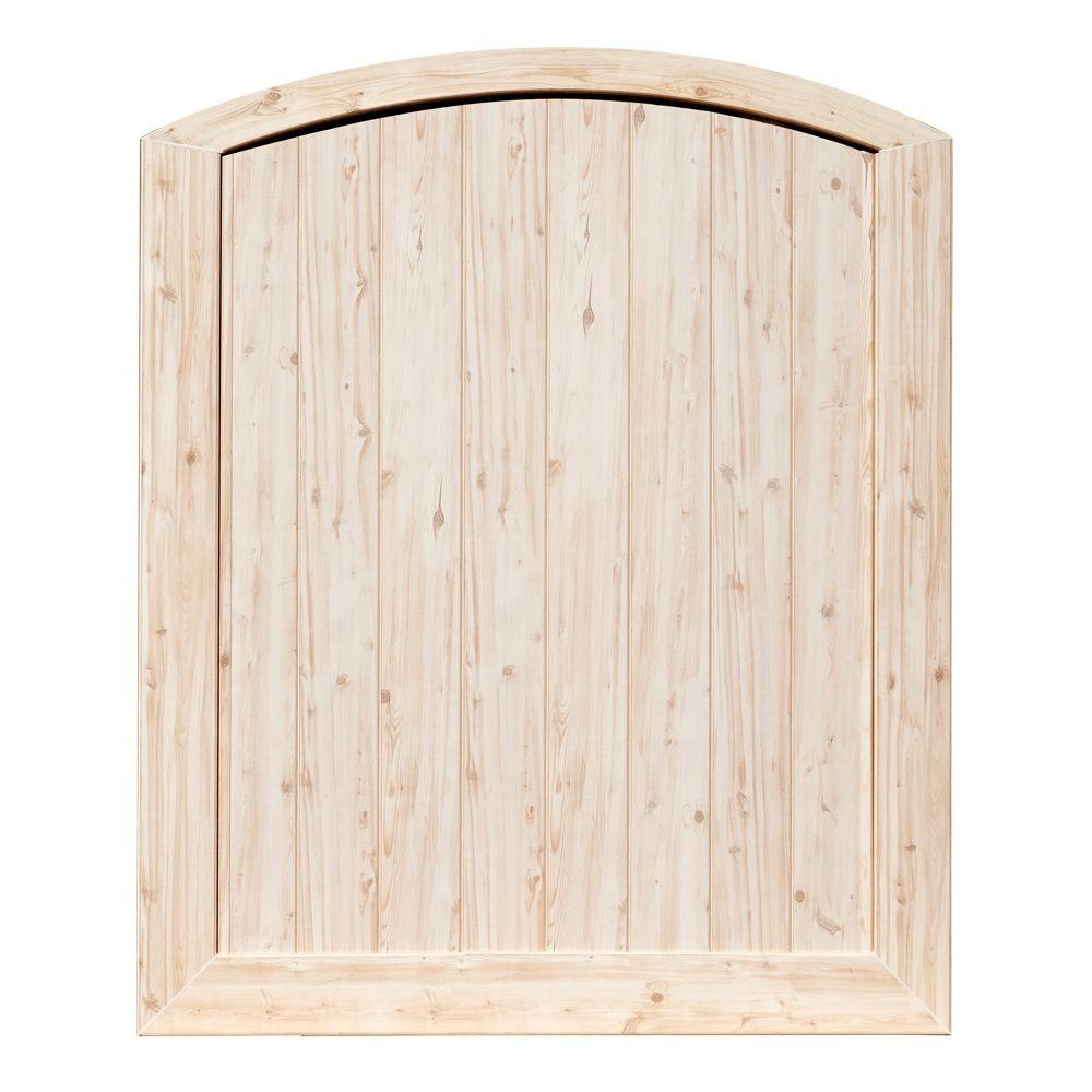 Veranda Pro Series 5 ft. W x 6 ft. H White Cedar Vinyl Anaheim Privacy Arched Top Fence Gate