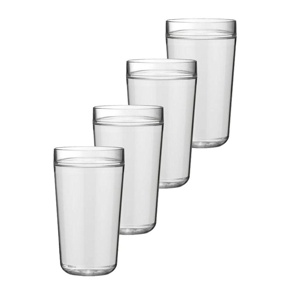 Kraftware 24 oz. Insulated Drinkware in White (Set of 4)-DISCONTINUED