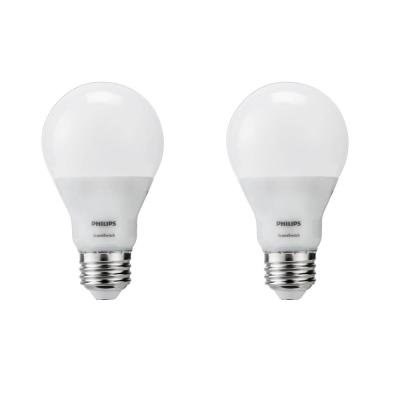 60-Watt Equivalent A19 SceneSwitch LED Light Bulb Soft White (2700K)/Amber (2500K)/ Warm Glow (2200K) (2-Pack)
