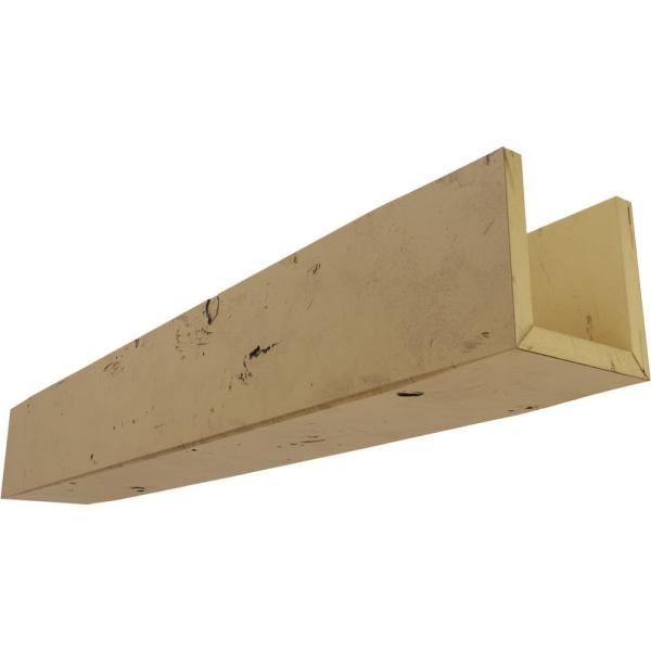 Ekena Millwork 8 In X 12 In X 24 Ft 3 Sided U Beam Knotty Pine Natural Golden Oak Faux Wood Ceiling Beam Bmkp3c0120x080x288ng The Home Depot