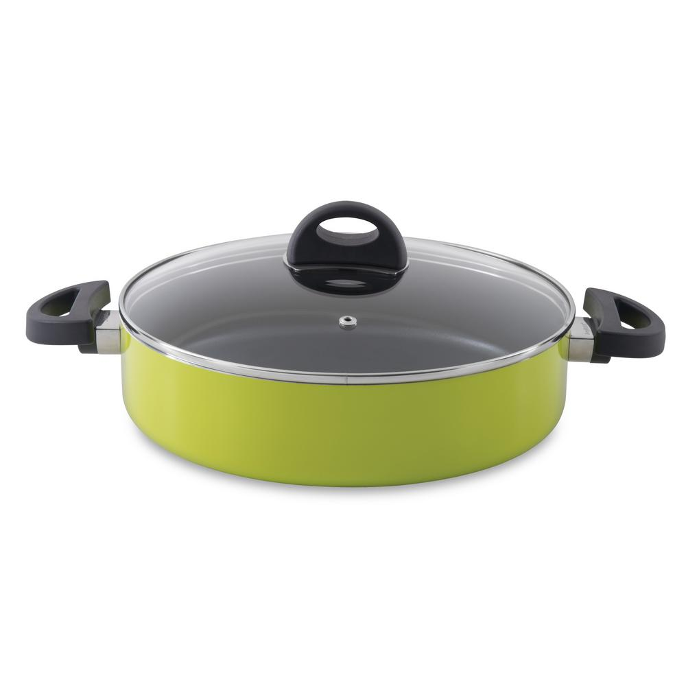 Eclipse 3.4 Qt. Aluminum Non-Stick Lime Saute Pan with Lid