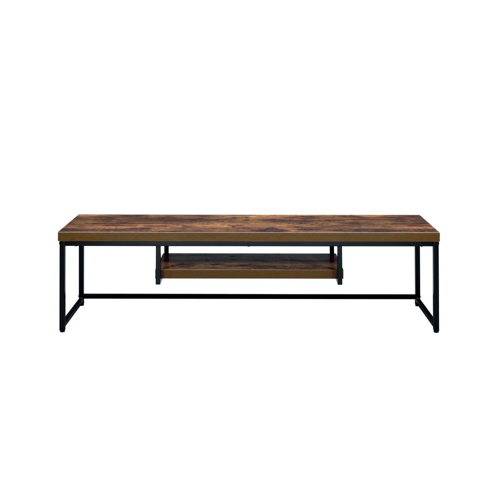 ACME Furniture Bob Weathered Oak And Black TV Stand