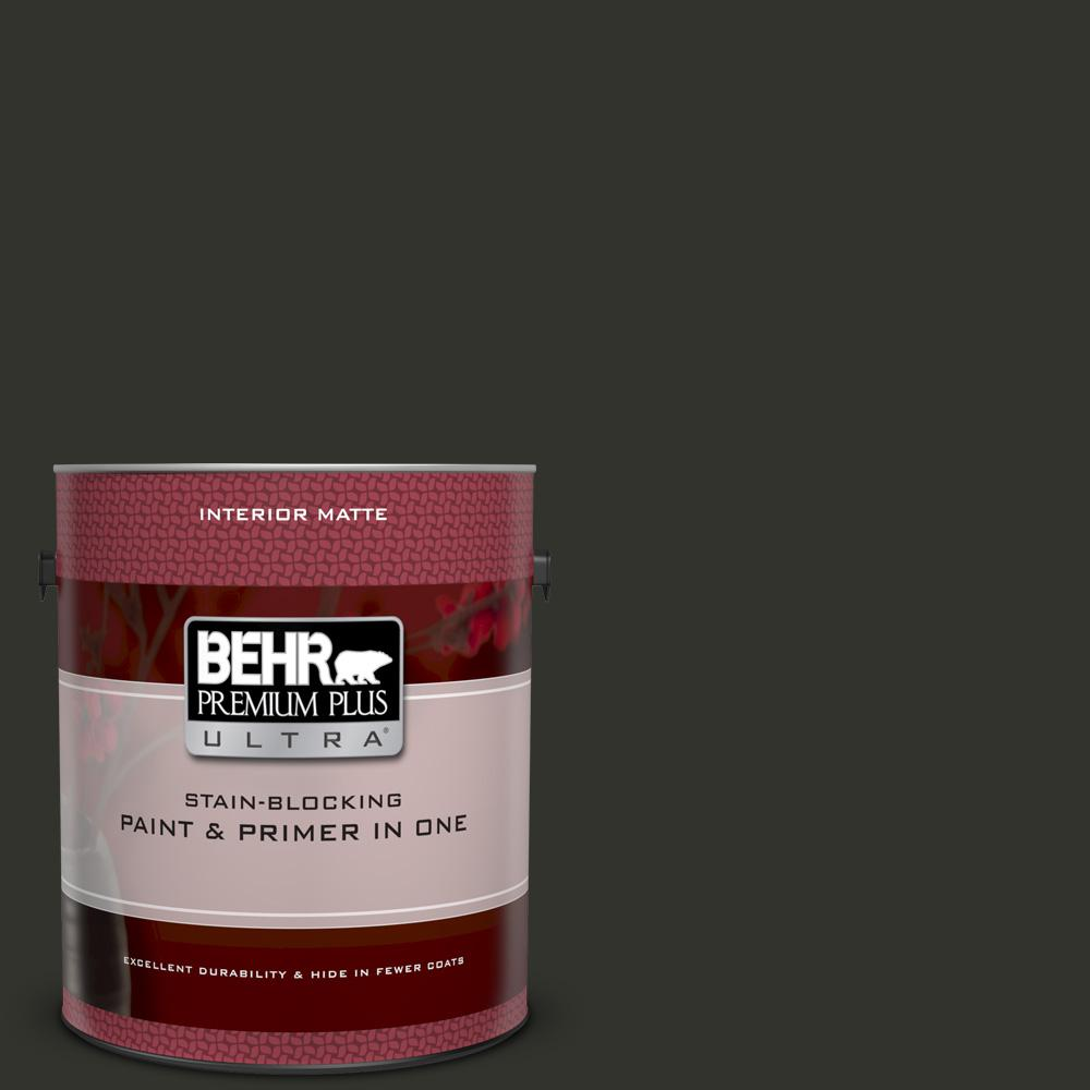 BEHR Premium Plus Ultra 1 gal  #MQ5-05 Limousine Leather Matte Interior  Paint and Primer in One