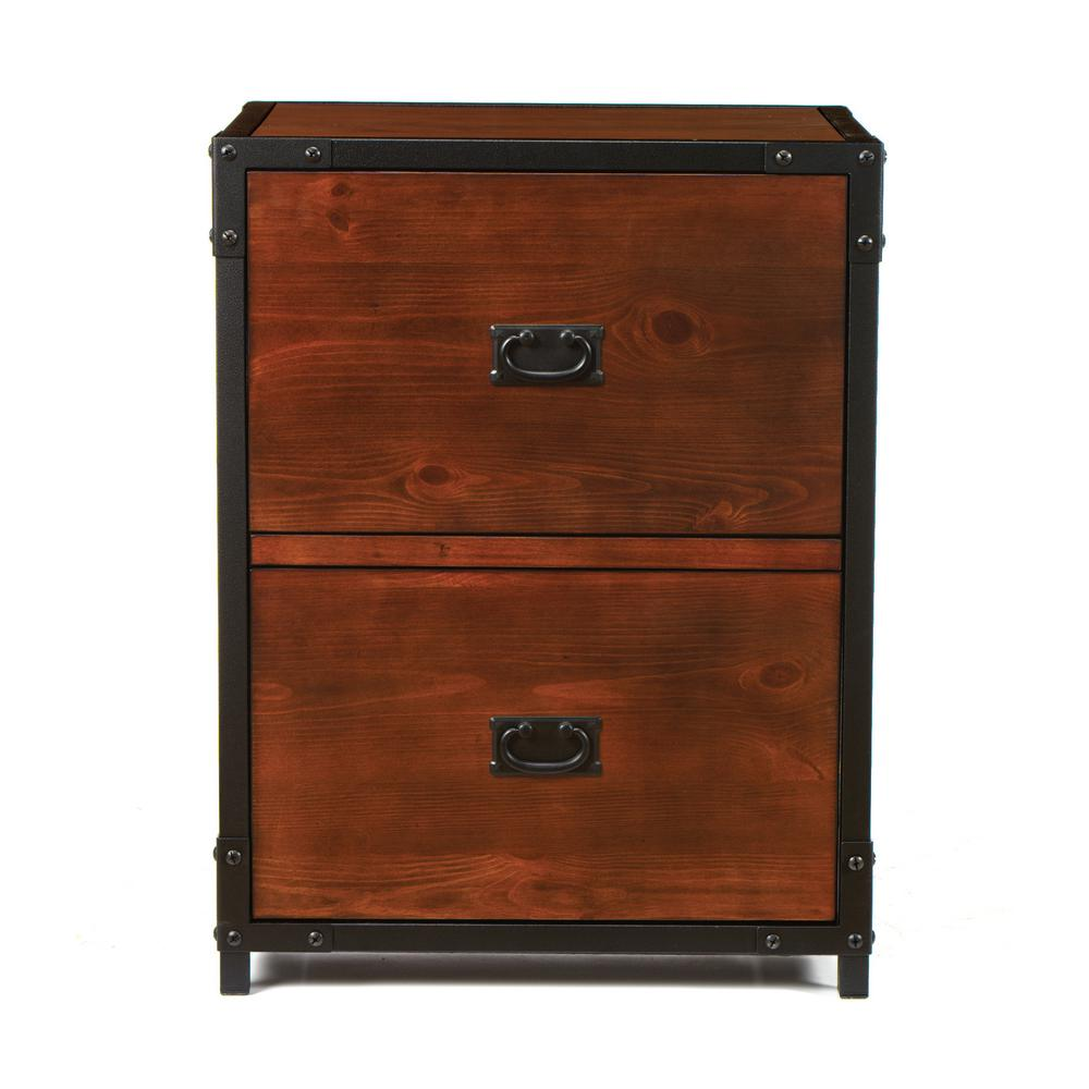 Bon Home Decorators Collection Industrial Empire Pine File Cabinet