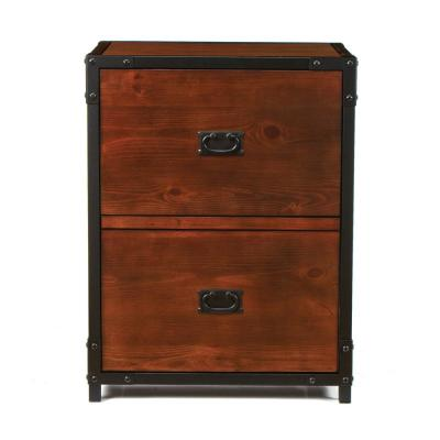 Industrial Empire Pine File Cabinet