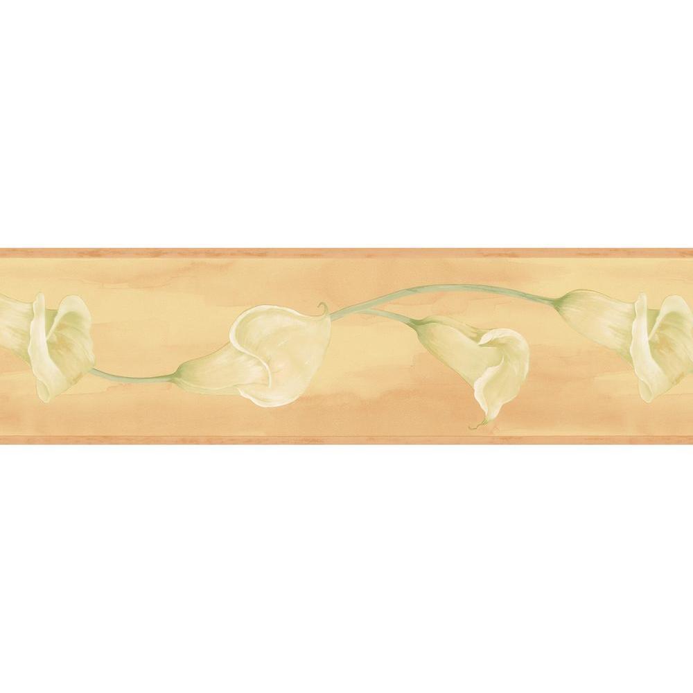 Bath Bath Bath III Tulip Trail Wallpaper Border