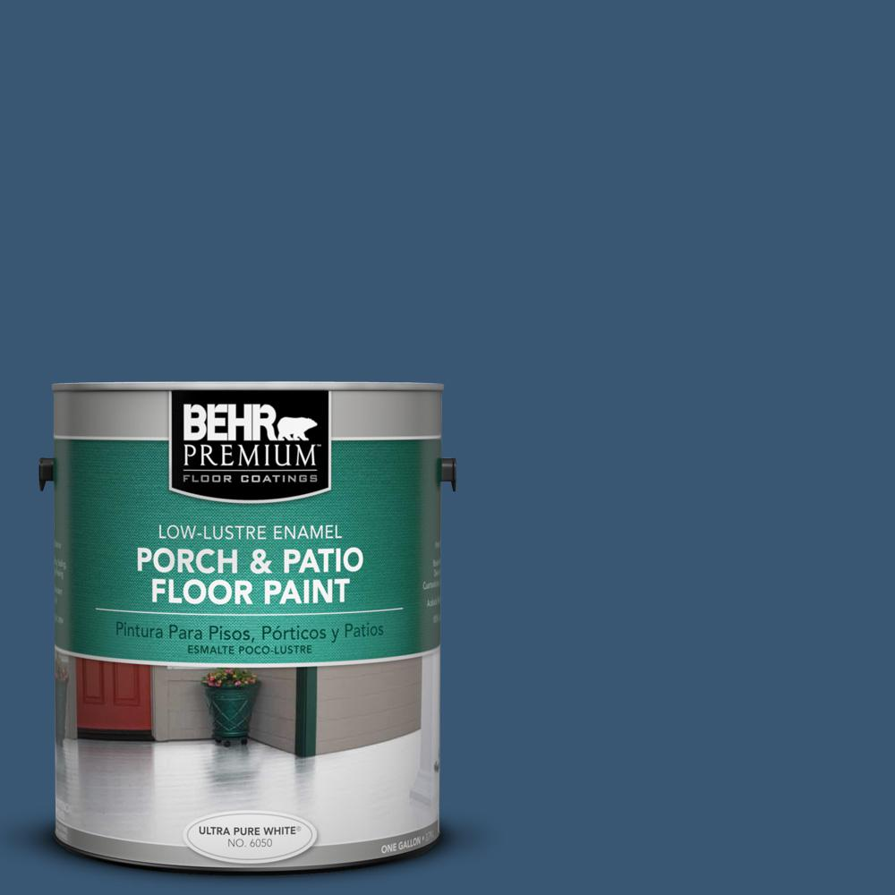 1 gal. #M500-6 Express Blue Low-Lustre Porch and Patio Floor Paint