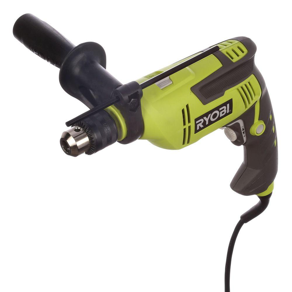 ryobi 6 2 amp 5 8 in variable speed reversible hammer drill d620h the home depot. Black Bedroom Furniture Sets. Home Design Ideas