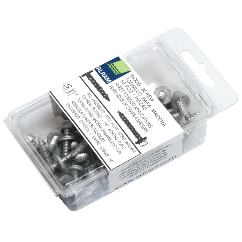 Woodtite 1 in. Fasteners (50-Pieces)