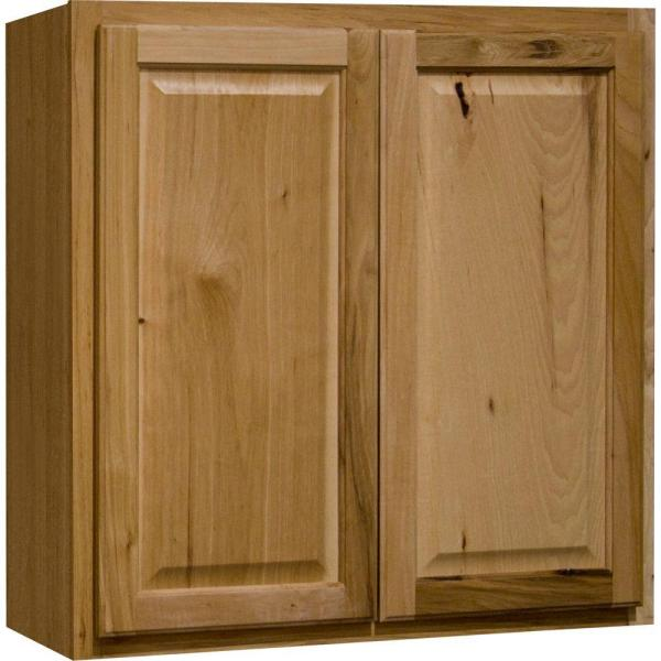 Hampton Bay Hampton Assembled 30x30x12 In Wall Kitchen Cabinet In Natural Hickory Kw3030 Nhk The Home Depot