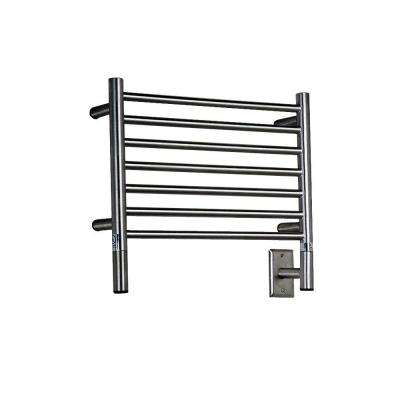Jeeves H-Straight 20.5 in. W x 18 in. H 7-Bar Electric Towel Warmer in Brushed Stainless Steel