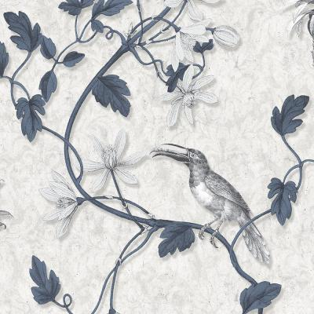 Toucan Toile Wallpaper