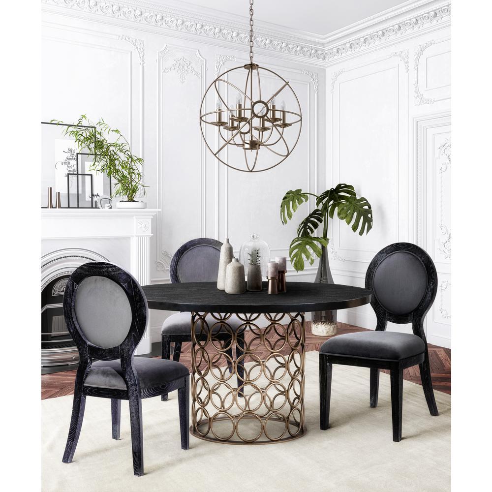 Grey Cerused Oak Chair (Set of 2)