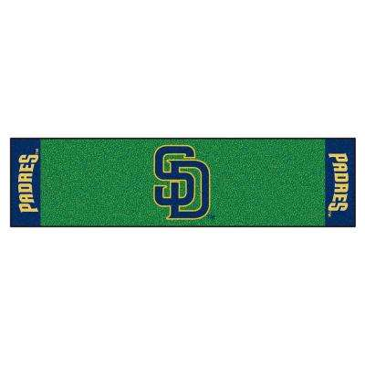 MLB San Diego Padres 1 ft. 6 in. x 6 ft. Indoor 1-Hole Golf Practice Putting Green