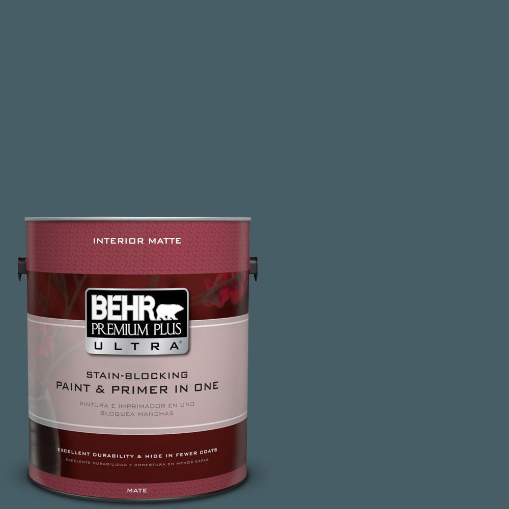 BEHR Premium Plus Ultra 1 gal. #PPU13-19 Observatory Flat/Matte Interior Paint