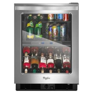 Click here to buy Whirlpool 24 inch W 5.8 cu. ft. Dual Zone 12-Bottle Wine Cooler by Whirlpool.
