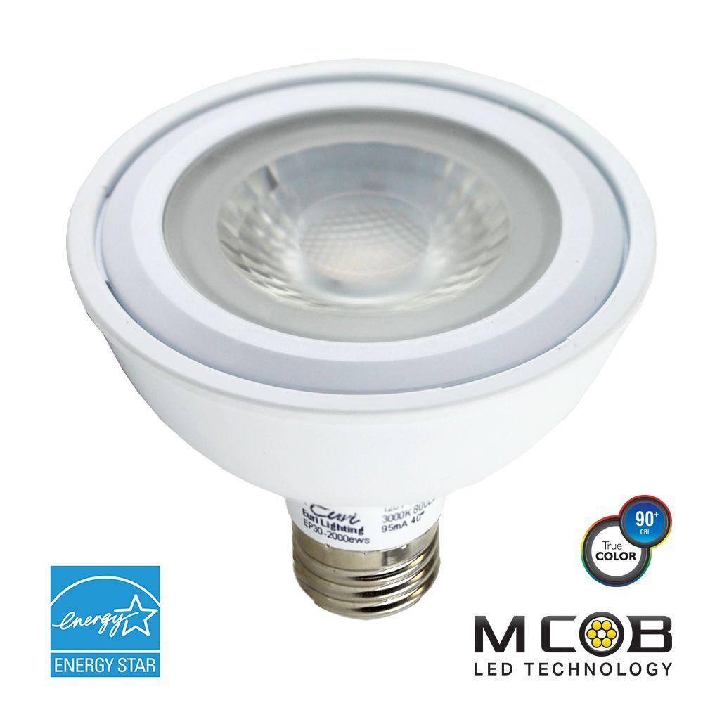 75W Equivalent Soft White (3,000K) PAR30 Short Neck Dimmable MCOB LED Flood Light