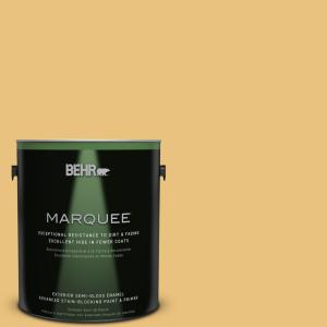 1-gal. #MQ4-13 Golden Thread Semi-Gloss Enamel Exterior Paint