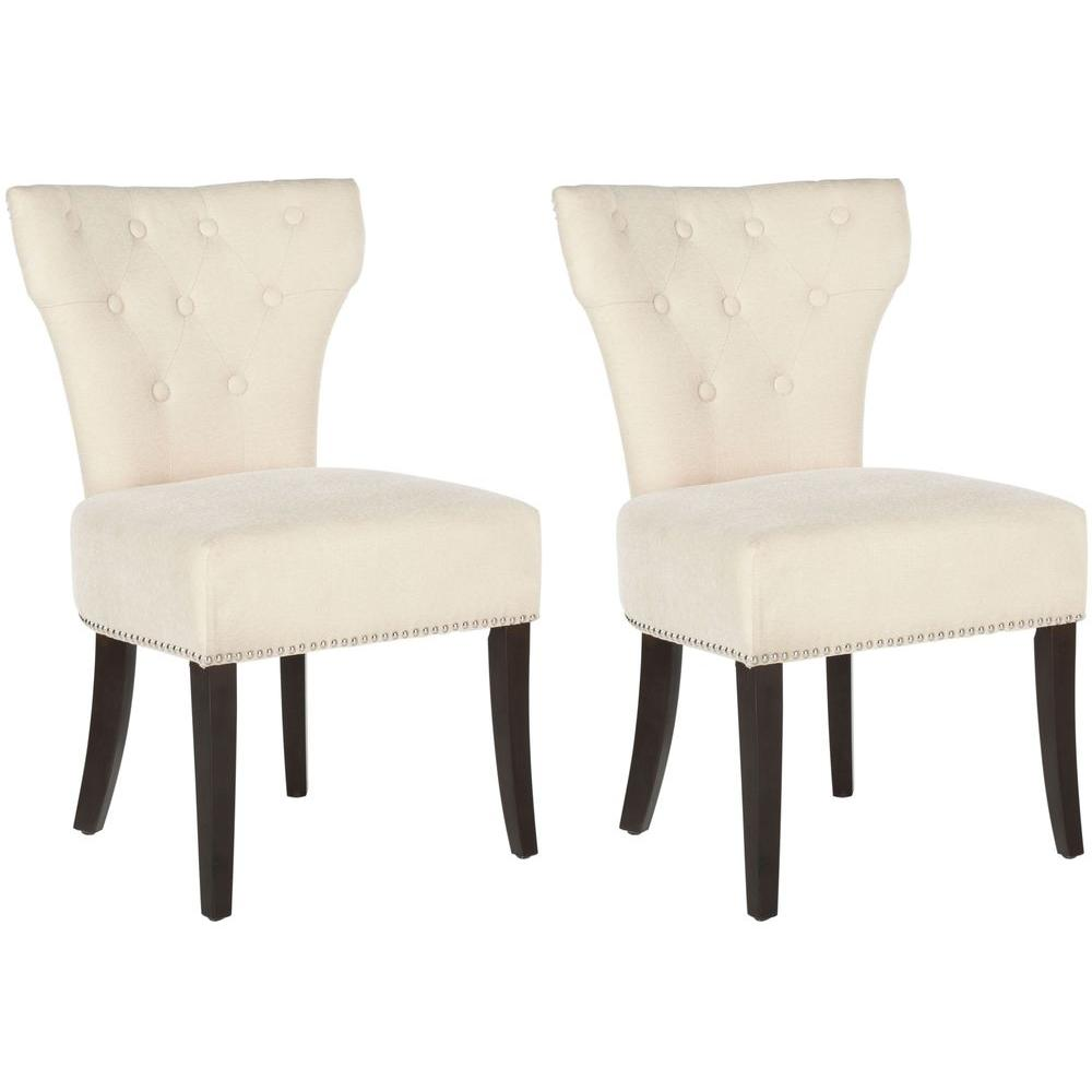 Jappic Natural Cream Cotton Blend Side Chair (Set of 2)