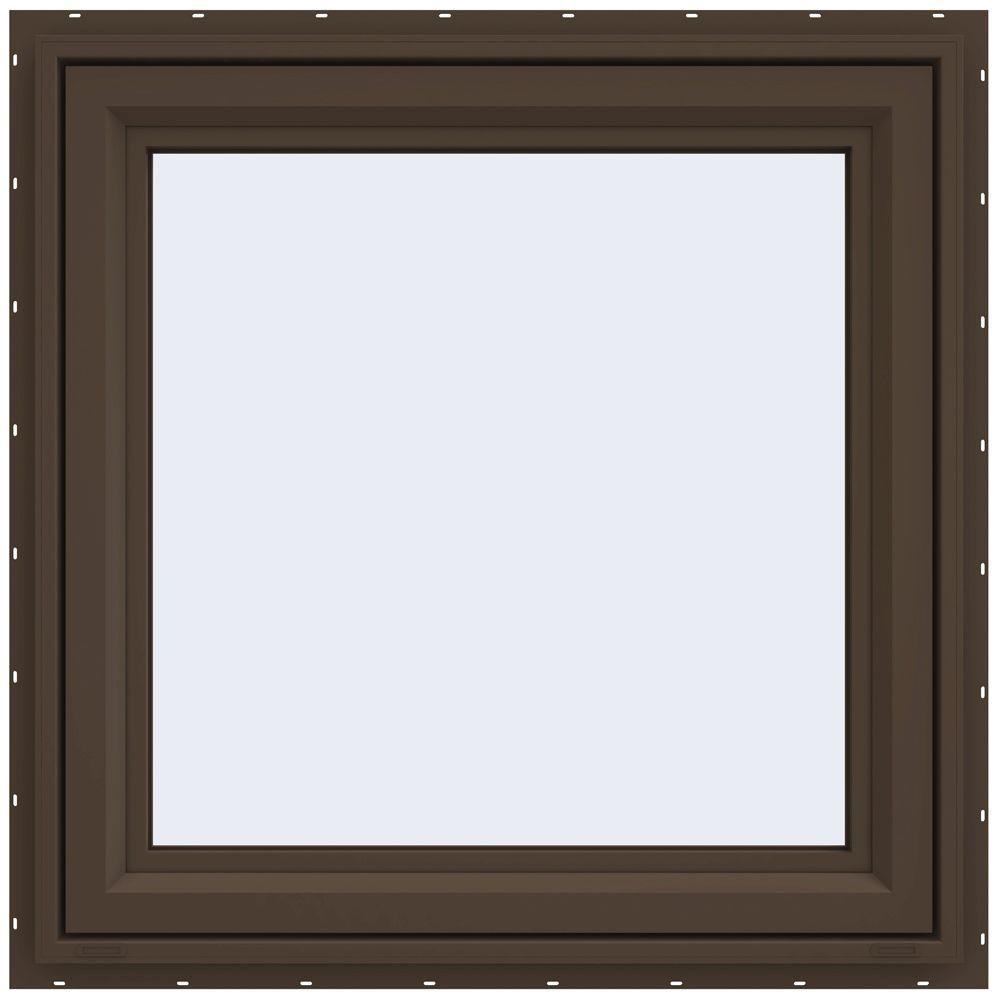 JELD-WEN 29.5 in. x 29.5 in. V-4500 Series Left-Hand Casement Vinyl Window - Brown